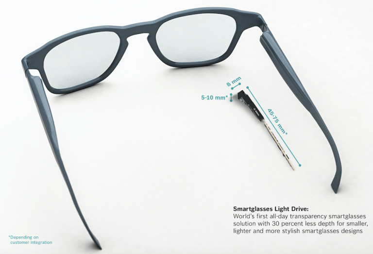 Bosch smartglasses light drive module launches at CES