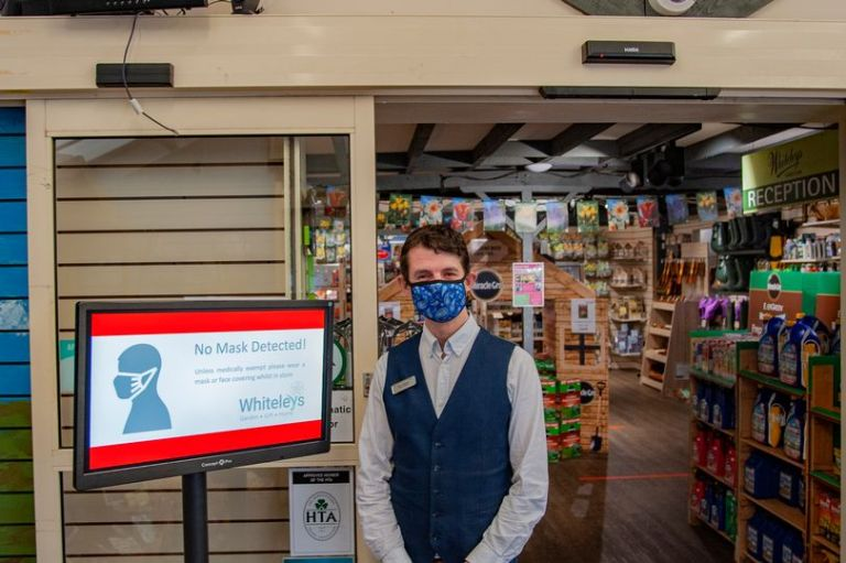 CCTV that detects face mask wearers now in operation