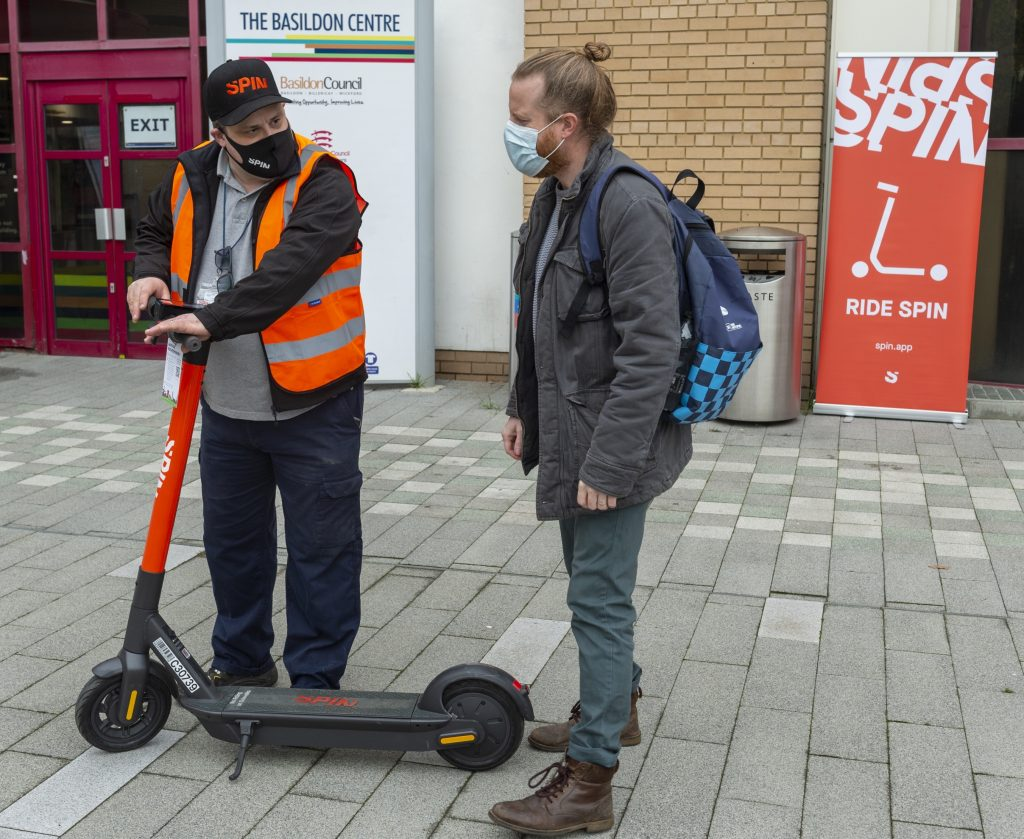 Ford's Spin notches up 10,000 e-scooter rides in Essex