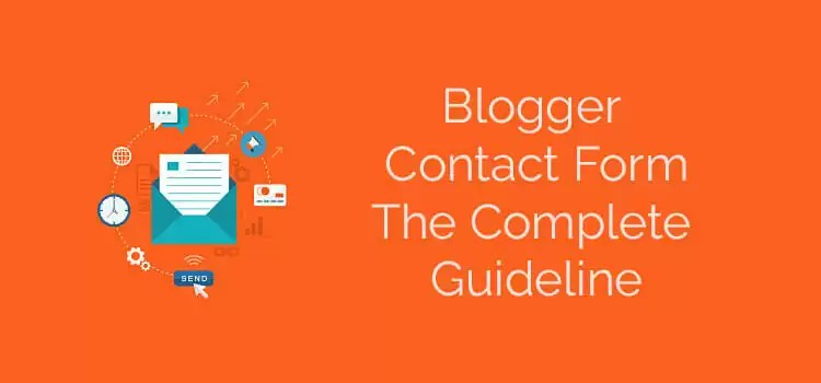 blogger contact form how to do it