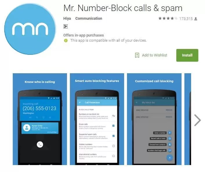 Mr. Number-Block calls & spam
