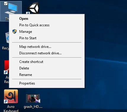 My ComputerThis PC Manage