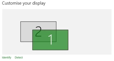 click on Identify to show the numbers on corresponding display