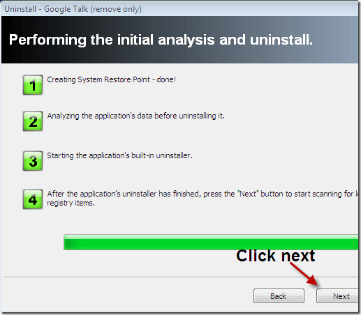 uninstaller will find it and delete it
