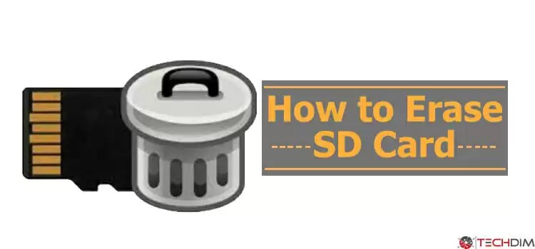 How to Erase SD Card