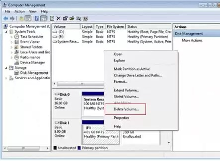 Disk Management Of PC