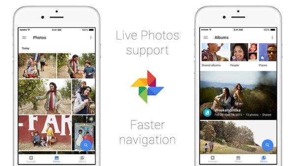 google photos support live photos