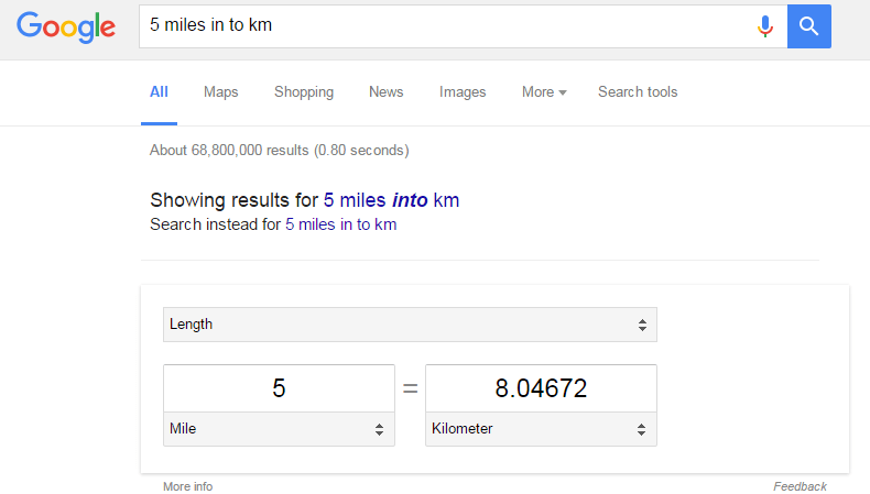 Amazing things that you can do with Google