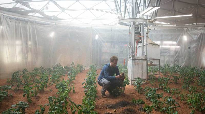 You can grow potatoes on MARS