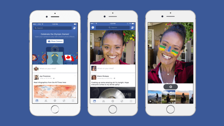 facebook testing selfie feature