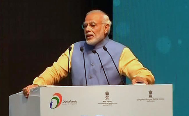 Narendra Modi during the launch of BHIM app