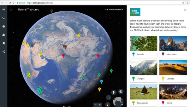Google Earth 9.0 voyager interacted guided tours 3d view
