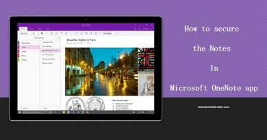 How to secure the Notes in Microsoft OneNote app