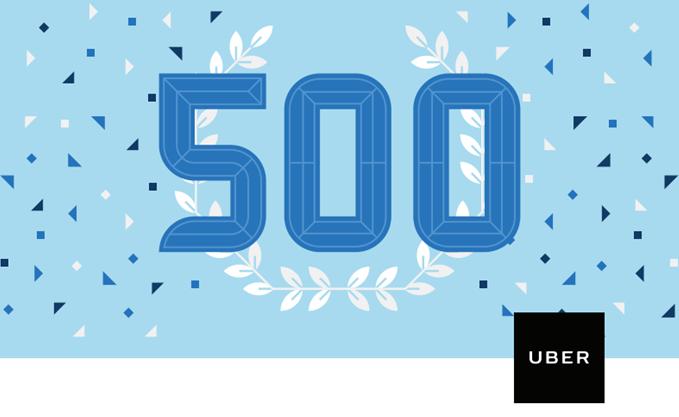 uber 500 million trips india