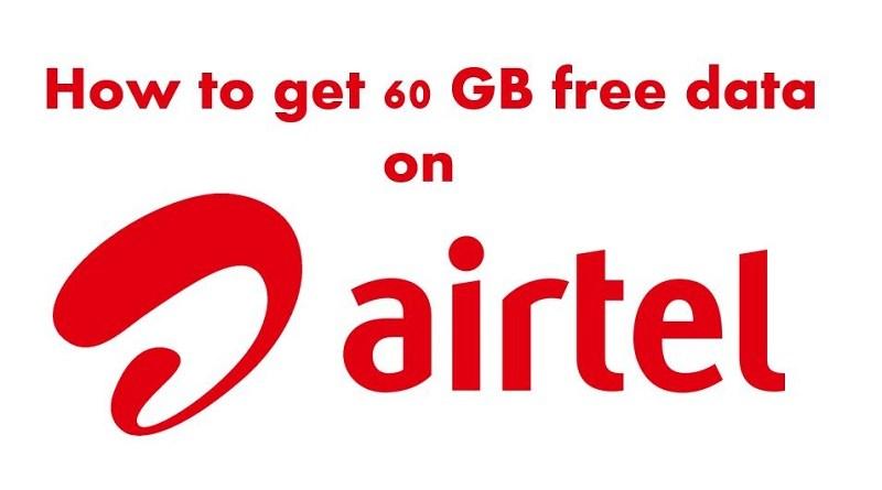 Free 60 GB Airtel data