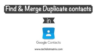 Find and Merge Duplicate contacts in Google
