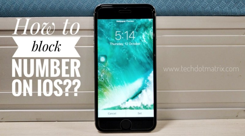 how to block number on iOS