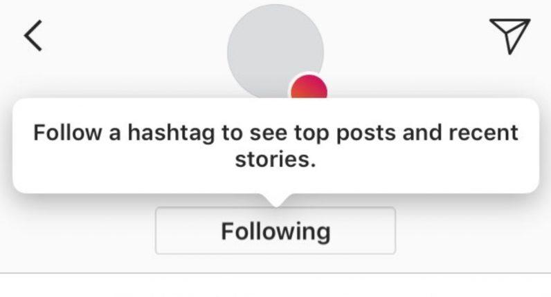 instagram testing follow hashtags
