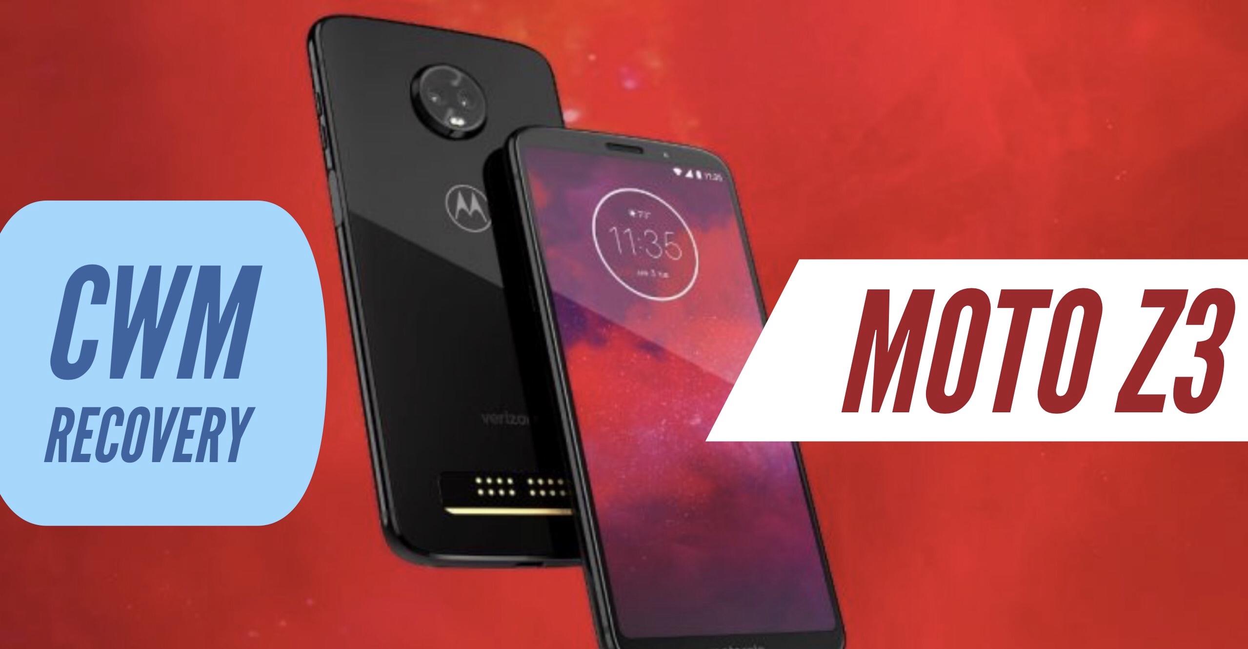 How to Install CWM Recovery on Motorola Moto Z3? Step By Step! Usb Wiring Diagram Moto Z on