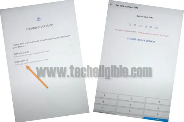 set 6 digits password huawei mediapad M5 Lite to bypass frp
