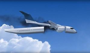 Avião de passageiros liberta cabine em caso de acidente