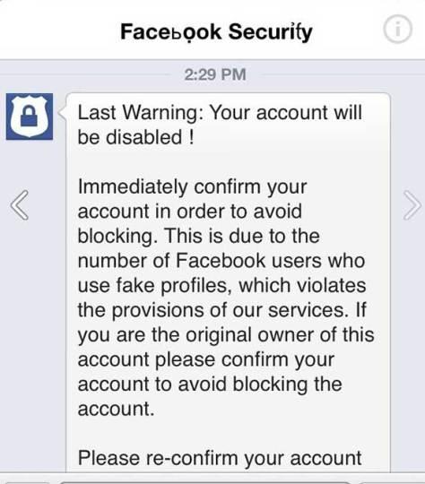 Novo ataque pishing no Facebook