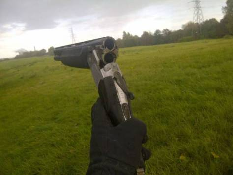 PIC FROM MERCURY PRESS (PICTURED: Shotgun used by Ryan Duggan, 19) A teen who blasted a man with a shotgun has been jailed for attempted murder after an iPhone saved his victim's life. Ryan Duggan, 19, from Widnes, Cheshire, was sentenced to life in prison at Chester Crown Court on Thursday after firing a sawn-off shotgun at Daniel Kennedy, 25. Mr Kennedy escaped with serious injuries to his abdomen - only escaping death after his smartphone took the brunt of the blow. Jordan Grimes, 22, from Burnley, Lancs, was jailed for two years after pleading guilty to assisting an offender after he offered Duggan a place to stay while he was a fugitive. SEE MERCURY COPY