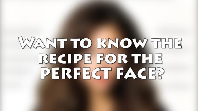 A cara mais perfeita do mundo