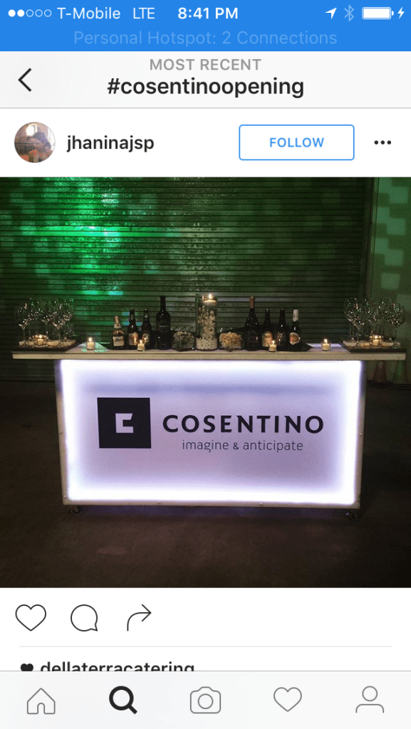 TEP lighting at Cosentino, NJ