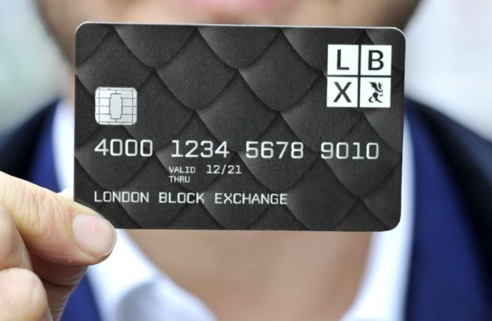 The Dragoncard from LBX. Image Credit London Block Exchange