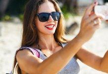 Girl taking sexy selfies