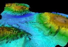 Multibeam mapping of seamount chain