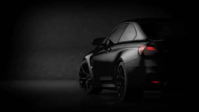 Black matte sports car.