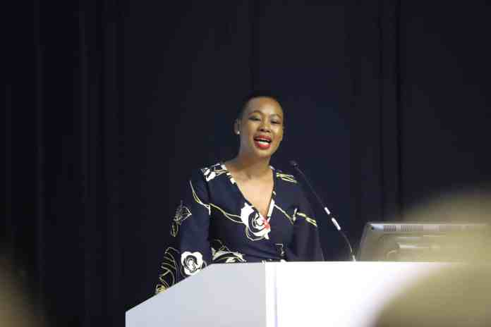 Communications and Digital Technologies Minister Stella Ndabeni-Abrahams