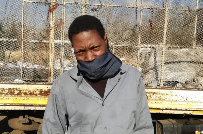 Justice Shabangu was arrested for collecting waste for recycling during lockdown and held for three months in prison. Photo: Stefan van der Westhuizen