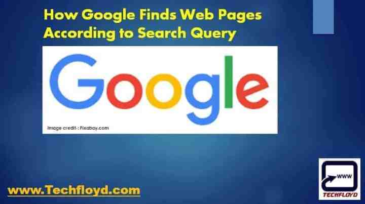 How Google Finds Web Pages According to Search Query