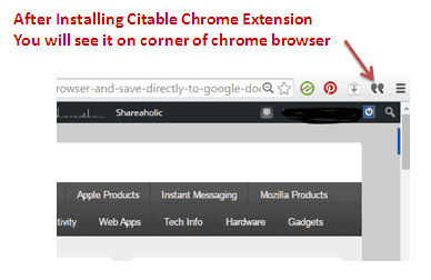 Citable Chrome Extension