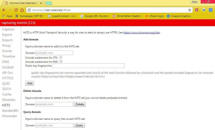 How to Clear HSTS Settings in Chrome and Firefox
