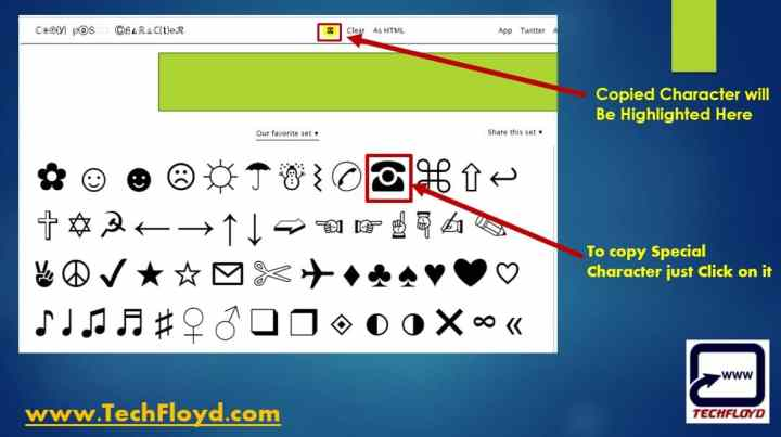 How to Copy Special Characters that aren't on your keyboard