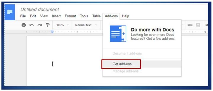 Google Doc Add-on Store