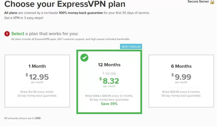 ExpressVPN Price and Subscription Plans