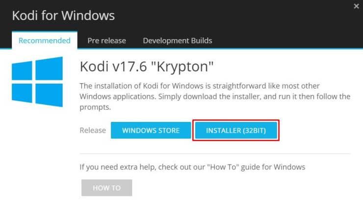 Install Kodi on Windows
