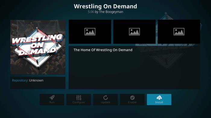 WWE On Demand Kodi Addon