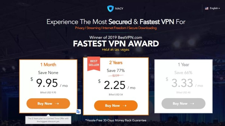Ivacy VPN Price