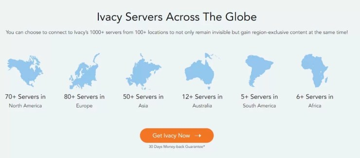 Ivacy VPN Server Locations
