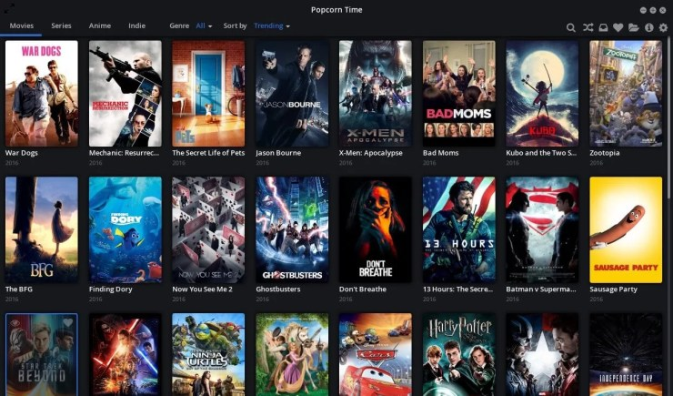 Popcorn Time on Xbox One
