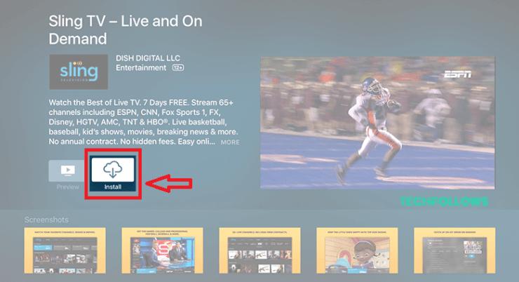 Sling TV on Apple TV