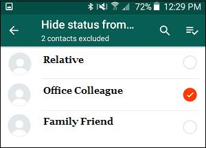 How to Hide Whatsapp Status