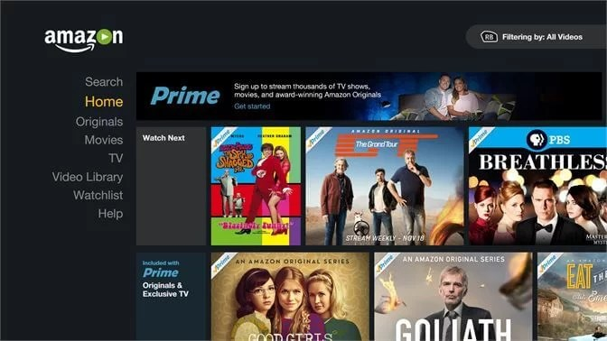 Amazon Prime Video on Chromebook