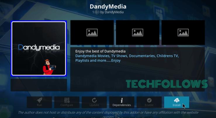 Dandymedia Kodi Addon